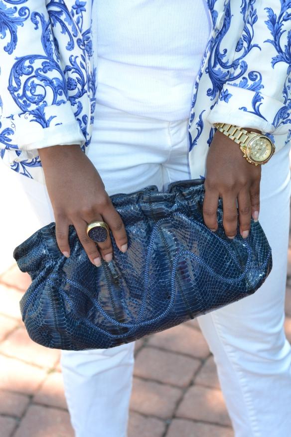 Blue Vintage Clutch