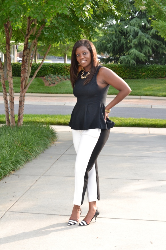 Zara Black and White Pants