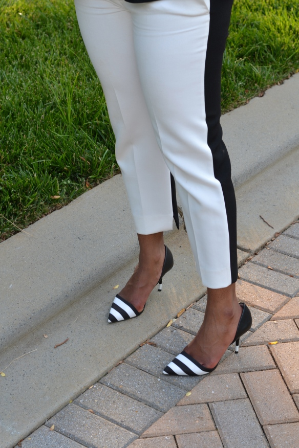 Zara Black and White Pants and Zara Black and White Heels