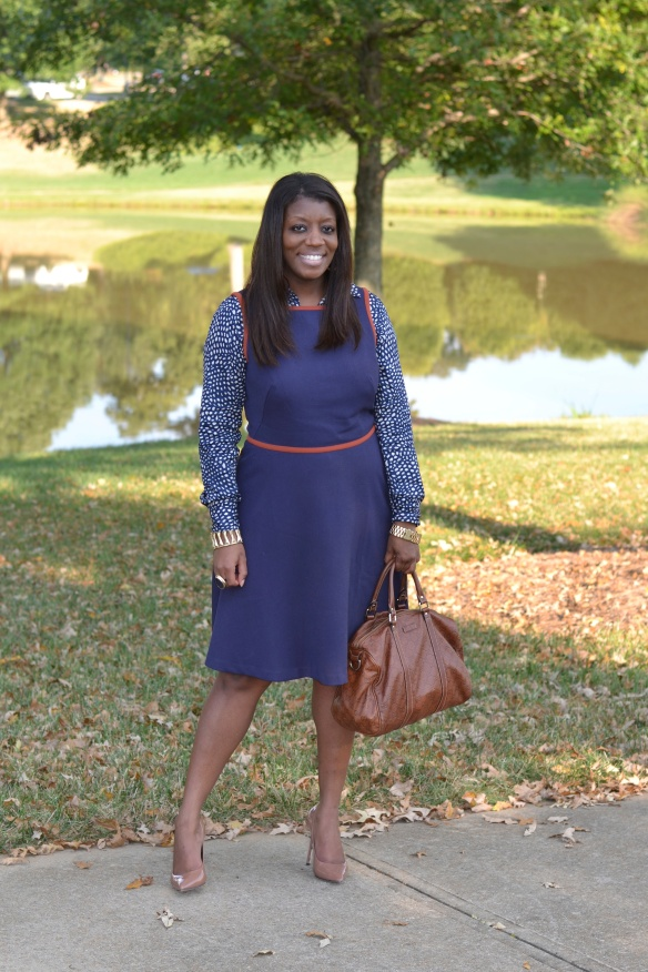 Loft Dress - Blue Fall Trend