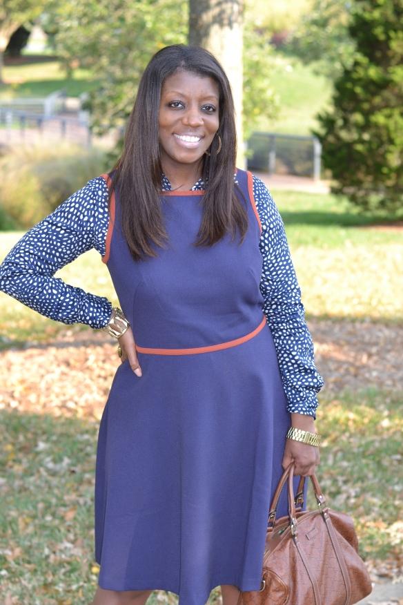 Loft Dress - Blue Fall Trend