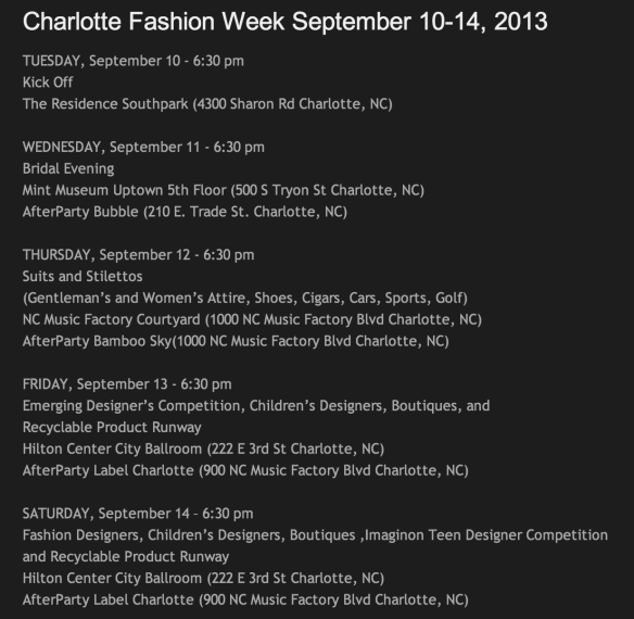 Charlotte Fashion Week 2013