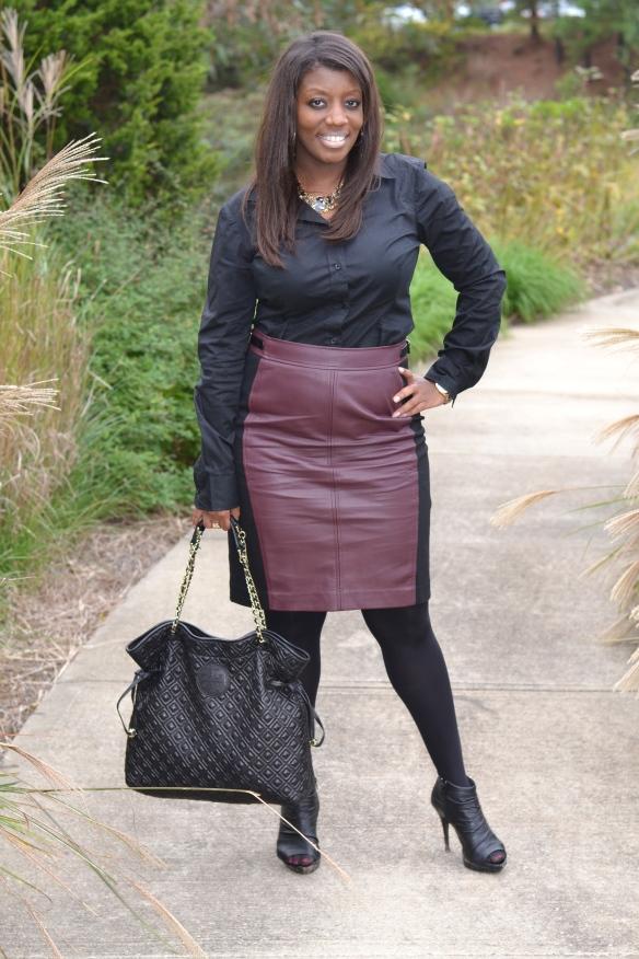 Loft Faux Leather Skirt