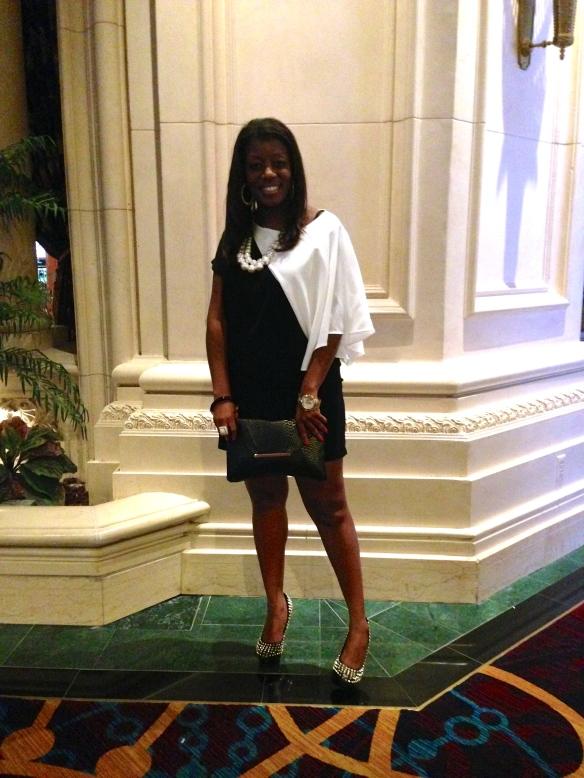 Zara Black & White One Sleeve Dress