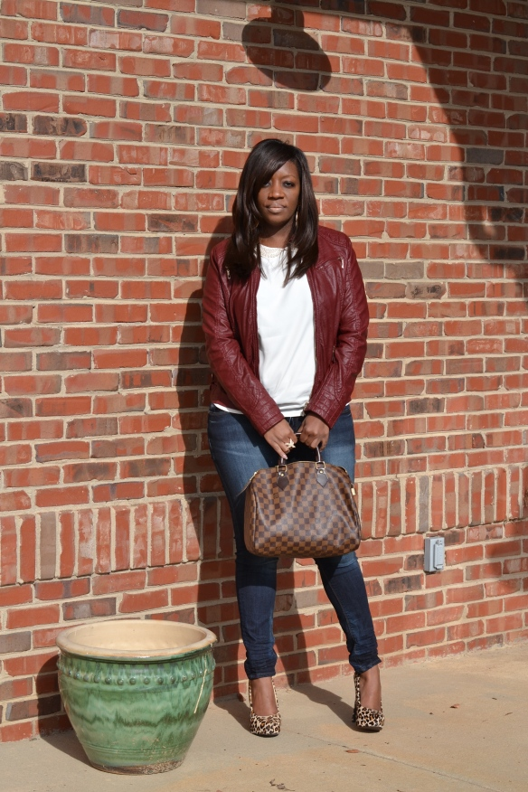 Forever 21 Oxblood Faux Leather Jacket